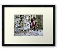 crimson chair Framed Print