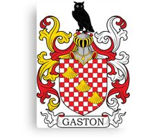 Gaston Coat of Arms Canvas Print
