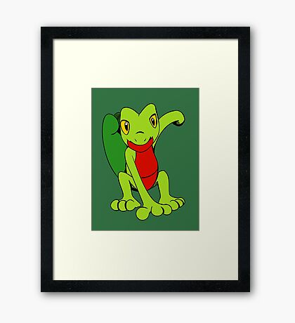 Little Treecko Here to Play Framed Print