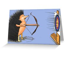 Hedgehog archery Greeting Card