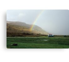 Rainbow at Campsite Canvas Print