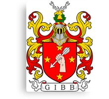 Gibb Coat of Arms Canvas Print