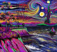 Psychedelic landscape by davidburles