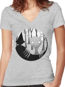 Into the Unknown Women's Fitted V-Neck T-Shirt