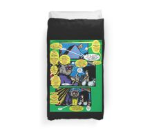 Bird of Steel Comix – # 6 of 8 -  (Red Bubble POP-ART COLLECTION SERIES)  Duvet Cover