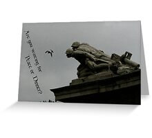Peace or Dinner? Greeting Card