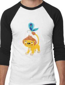 Leo and Butterfly Men's Baseball ¾ T-Shirt