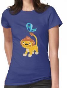 Leo and Butterfly Womens Fitted T-Shirt