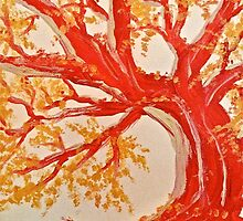 Red Tree ala Fauve by Scott Johnson