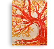 Red Tree ala Fauve Canvas Print