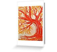 Red Tree ala Fauve Greeting Card