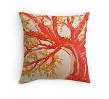 Red Tree ala Fauve Throw Pillow