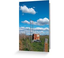The box and the deep blue sky Greeting Card