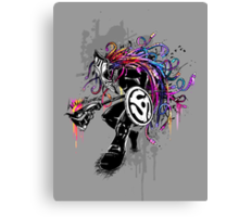 Vinyl Warrior  Canvas Print