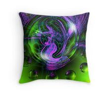 Mermaid In A Bubble Throw Pillow
