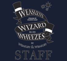Weasleys' Wizard Wheezes Store Staff (Small Logo) Kids Tee
