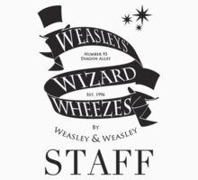 Weasleys' Wizard Wheezes Store Staff (Small Logo) by thegadzooks