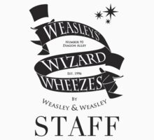 Weasleys' Wizard Wheezes Store Staff (Small Logo) by thegadzooks