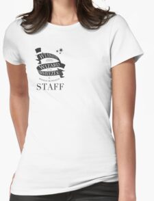 Weasleys' Wizard Wheezes Store Staff (Small Logo) Womens Fitted T-Shirt