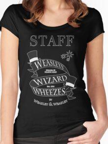 Weasleys' Wizard Wheezes Store Staff Women's Fitted Scoop T-Shirt