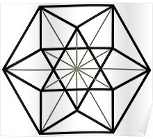 Cuboctahedron, Structur of Universe, Sacred Geometry Poster
