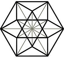 Cuboctahedron, Structur of Universe, Sacred Geometry Photographic Print