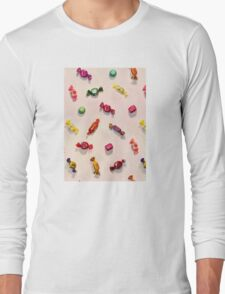 Sweet Candy Painted Pattern Long Sleeve T-Shirt