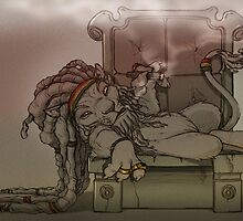 Rasta Lion by EddieHolly
