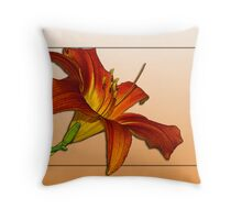 Daylily Revisited Throw Pillow