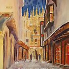 Christmas card -Evening Canterbury by Beatrice Cloake Pasquier