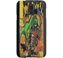 """Space Chick & Nympho: Vampire Warrior Party Girl Comix #1-  Comic Page """"Dino Fight"""" Samsung Galaxy Case/Skin"""