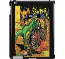 """Space Chick & Nympho: Vampire Warrior Party Girl Comix #1-  Comic Page """"Dino Fight"""" iPad Case/Skin"""