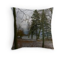 Winter at the Lake Throw Pillow
