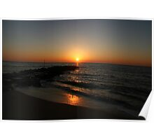 FINAL SUNSET OF 2007 CAPE MAY , NJ Poster