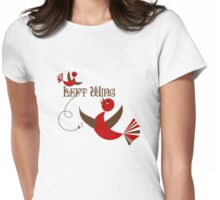 Left wing Womens Fitted T-Shirt