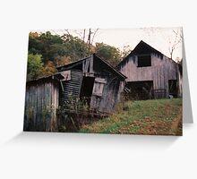 Old Family Barns Greeting Card