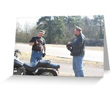 Super Dave & James.....ONE LIEING>>>ONE LISTENING Greeting Card