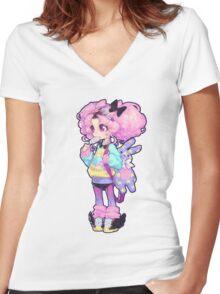 chibi Women's Fitted V-Neck T-Shirt