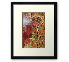 Burning Materialistic Desire (Mixed Media)- Framed Print