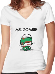 MR. ZOMBIE Women's Fitted V-Neck T-Shirt