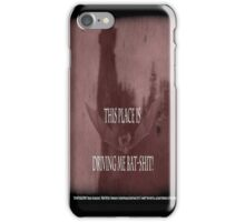 "'Orlock, the Vampire #2' (as killer vampire bat),  FROM THE FILM "" Nosferatu vs. Father Pipecock & Sister Funk (2014) iPhone Case/Skin"
