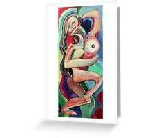 Dancing Female Nude (Acrylics)- Greeting Card