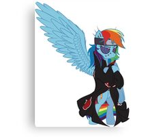 Akatsuki Rainbow Dash Canvas Print
