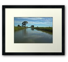 Water channel Framed Print