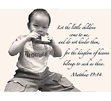 Matthew 19:14 Photographic Print