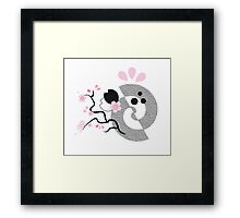 nihon pinky ink - 1 (from the series 'nihon pinky ink') Framed Print