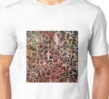 Circles. Acrylic on canvas embossed paper. Warm colours Unisex T-Shirt