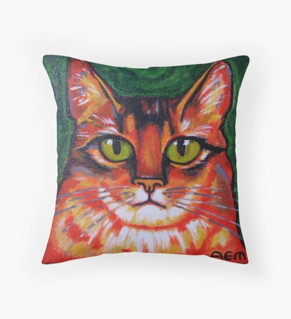 The Red Cat Throw Pillow