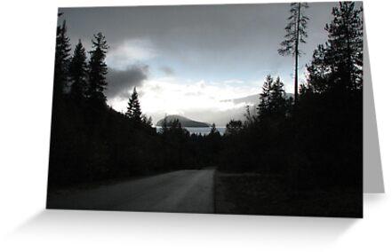 Roadway to the lake by gypsykatz