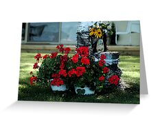 Cottage geraniums Greeting Card